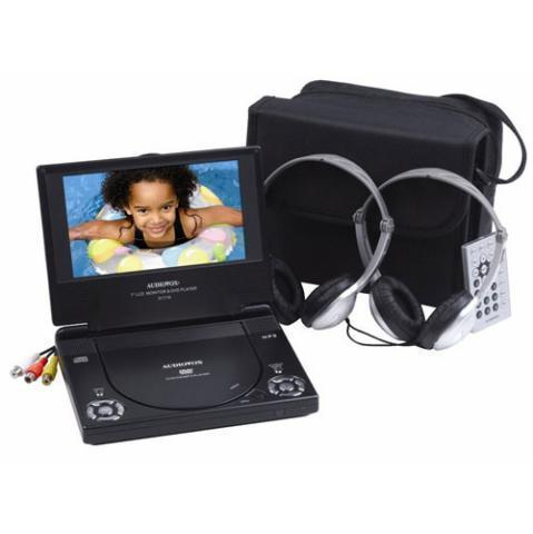 Audiovox D1718PK 7-Inch Portable DVD Player with Bonus Headphone